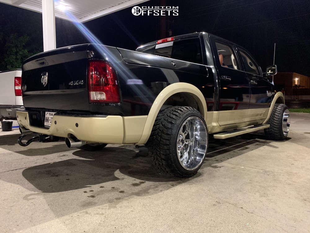 """2011 Ram 1500 Super Aggressive 3""""-5"""" on 22x14 -76 offset XD Xd809 and 33""""x12.5"""" Crosswind Crosswind M/t on Stock Suspension - Custom Offsets Gallery"""