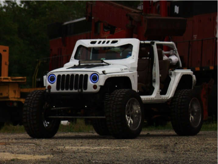 """2014 Jeep Wrangler Super Aggressive 3""""-5"""" on 24x14 -76 offset Cali Off Road Summit and 40""""x15.5"""" Federal Couragia M/t on Suspension Lift 6"""" - Custom Offsets Gallery"""
