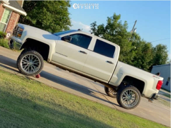 """2014 Chevrolet Silverado 1500 Hella Stance >5"""" on 24x12 -44 offset Axe Offroad Ax1.9 & 35""""x12.5"""" Comforser Cf3000 on Suspension Lift 10"""" - Custom Offsets Gallery"""