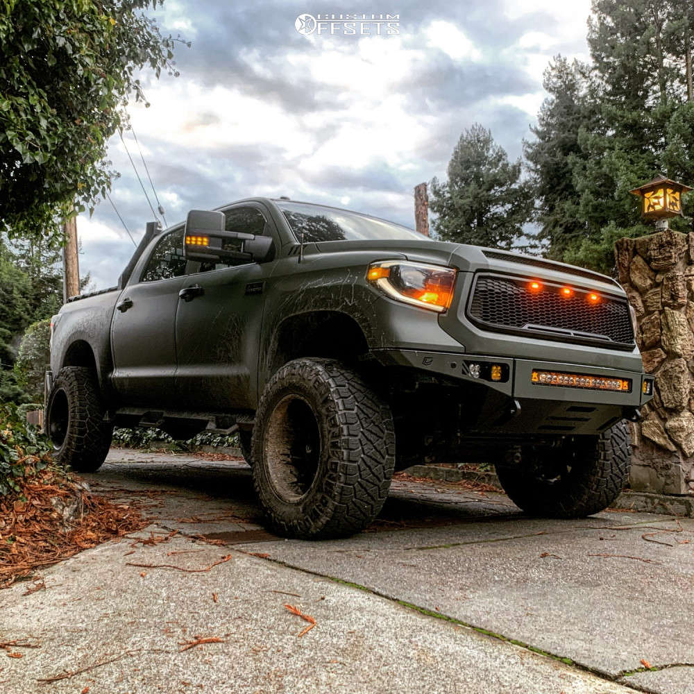 """2010 Toyota Tundra Super Aggressive 3""""-5"""" on 20x12 -44 offset Fuel Octane and 37""""x13.5"""" Nitto Ridge Grappler on Suspension Lift 6"""" - Custom Offsets Gallery"""