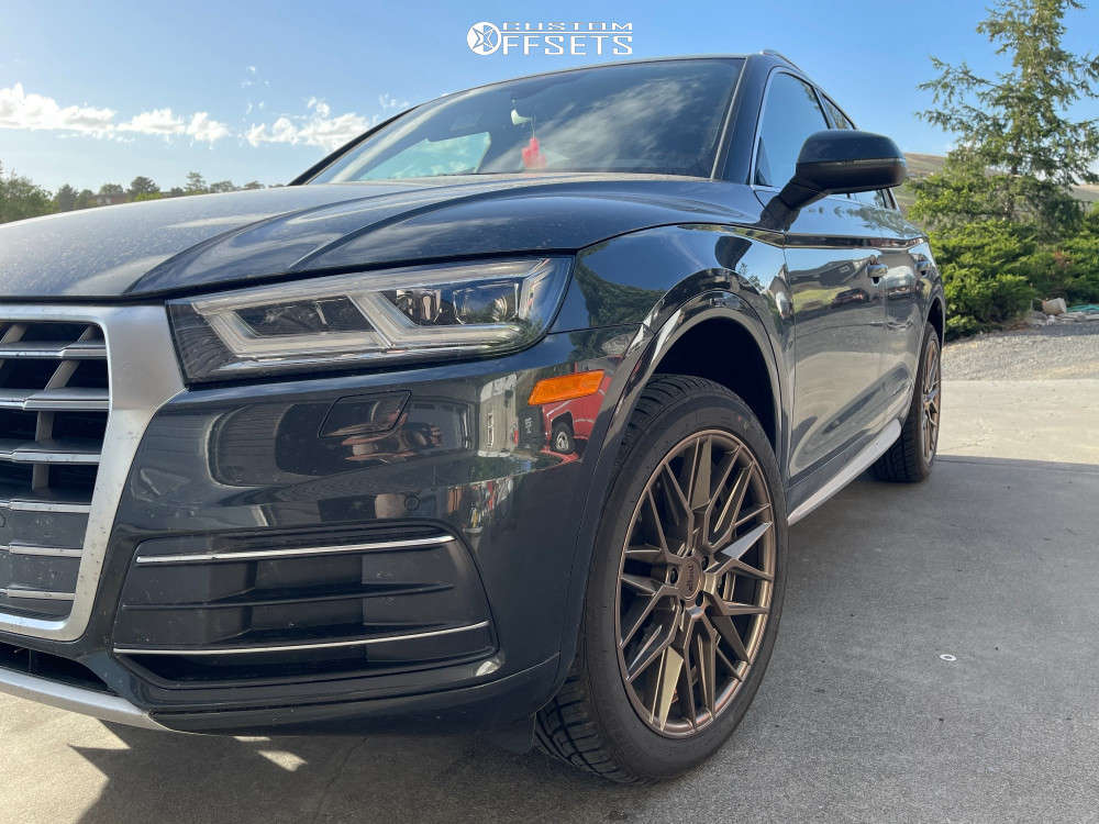 """2018 Audi Q5 Aggressive > 1"""" outside fender on 20x9 0 offset Niche Gamma & 245/55 Uniroyal Tiger Paw Gtz A/s 2 on Stock Suspension - Custom Offsets Gallery"""