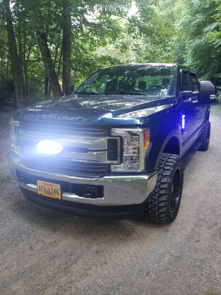 """2017 Ford F-250 Super Duty Super Aggressive 3""""-5"""" on 20x10 -25 offset TIS 544bm and 33""""x12.5"""" Rbp Repulsor Mt on Stock Suspension - Custom Offsets Gallery"""
