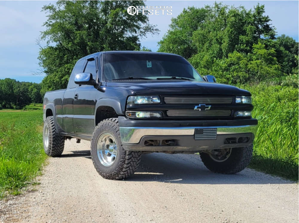 2001 Chevrolet Silverado 1500 Slightly Aggressive on 16x10 -38 offset Ion Alloy 171 & 285/75 Atturo Trail Blade Mt on Leveling Kit - Custom Offsets Gallery