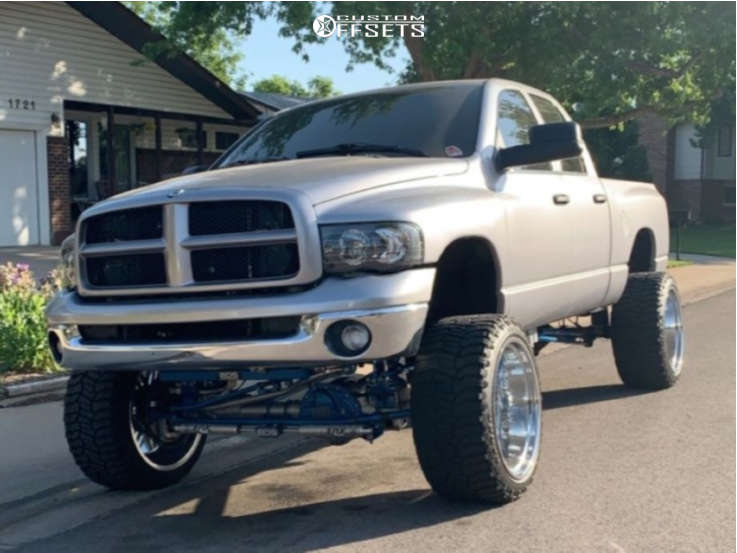 """2003 Dodge Ram 2500 Super Aggressive 3""""-5"""" on 24x14 76 offset Hd Offroad 8-point and 35""""x13.5"""" Radar Renegade on Suspension Lift 8"""" - Custom Offsets Gallery"""