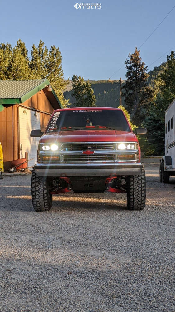 "1997 Chevrolet K1500 Slightly Aggressive on 15x8 15 offset Ultra 164 & 35""x12.5"" Goodyear Wrangler Mtr on Suspension Lift 6"" - Custom Offsets Gallery"