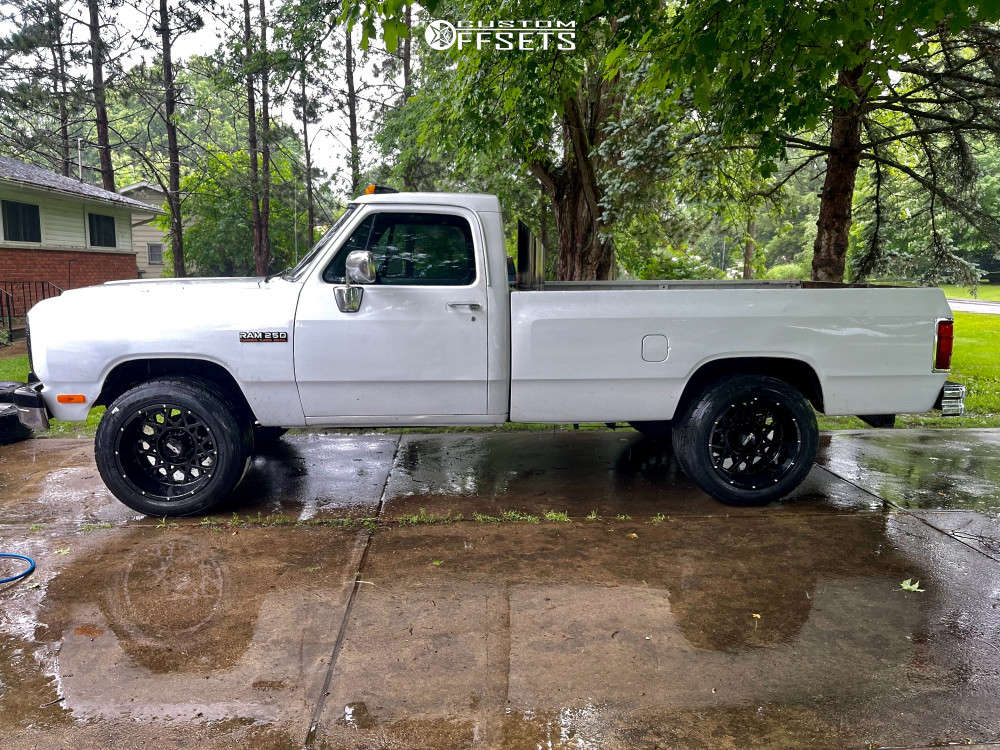 """1992 Dodge D250 Aggressive > 1"""" outside fender on 20x12 -51 offset Vision Rocker & 305/50 Toyo Proxes St Iii on Stock Suspension - Custom Offsets Gallery"""