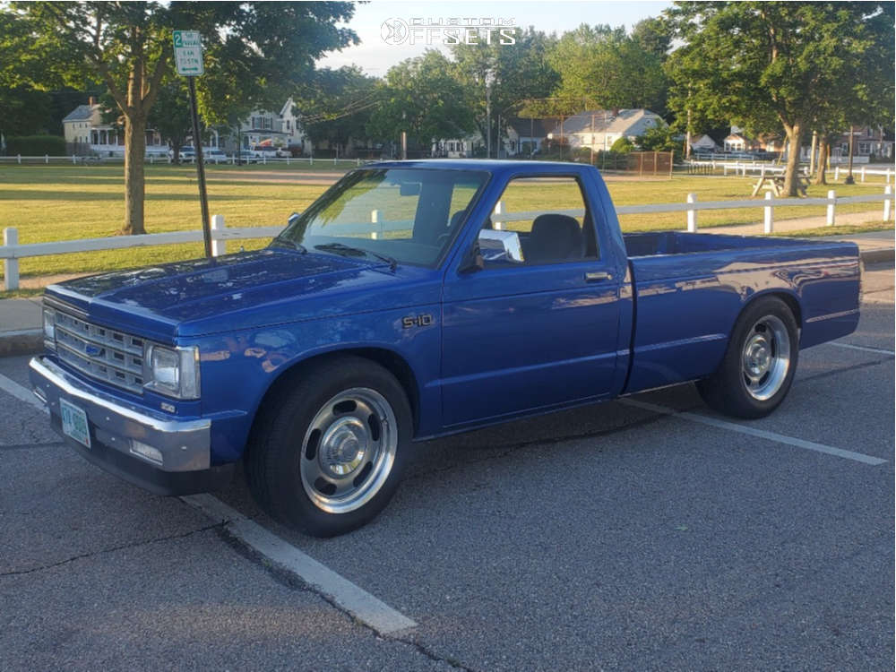 """1984 Chevrolet S10 Aggressive > 1"""" outside fender on 18x8.5 0 offset Vision Rally & 29""""x9.5"""" Toyo Tires Extensa Hp Ii on Stock Suspension - Custom Offsets Gallery"""