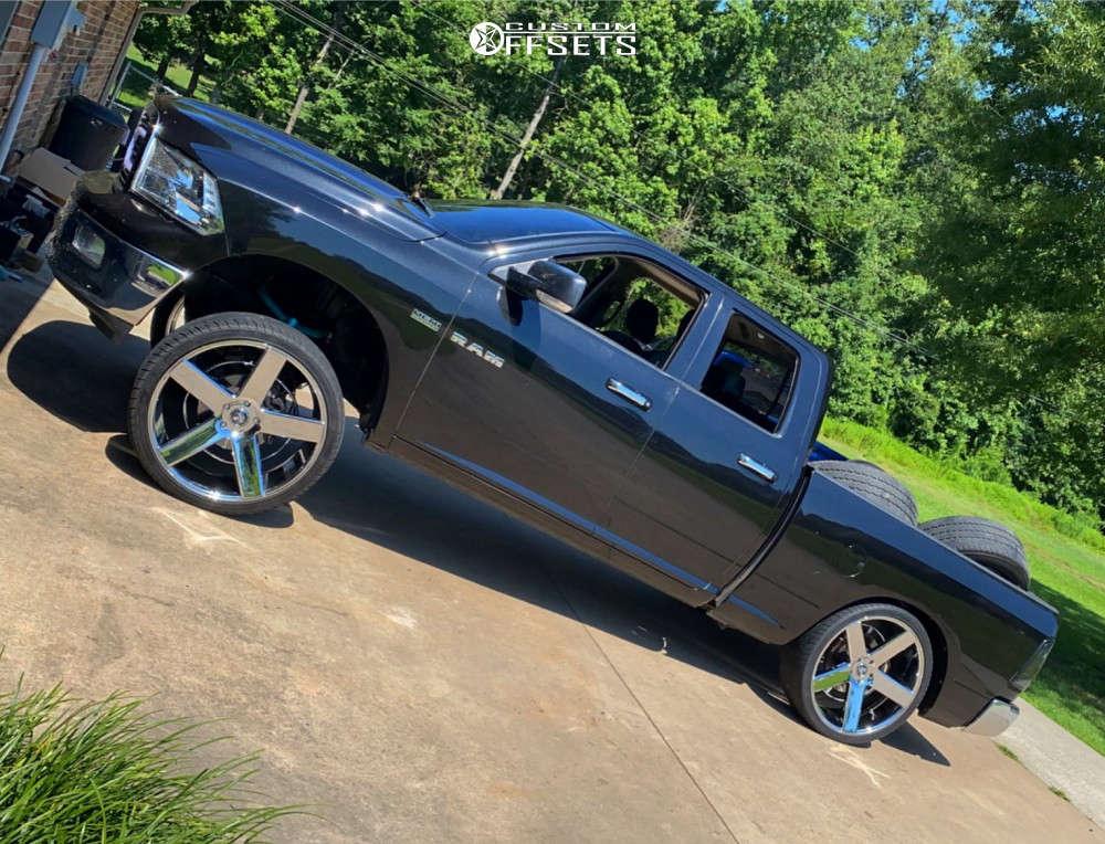 "2010 Dodge Ram 1500 Flush on 26x10 0 offset Dub Baller & 305/30 Lion Sport Lead on Suspension Lift 7.5"" - Custom Offsets Gallery"