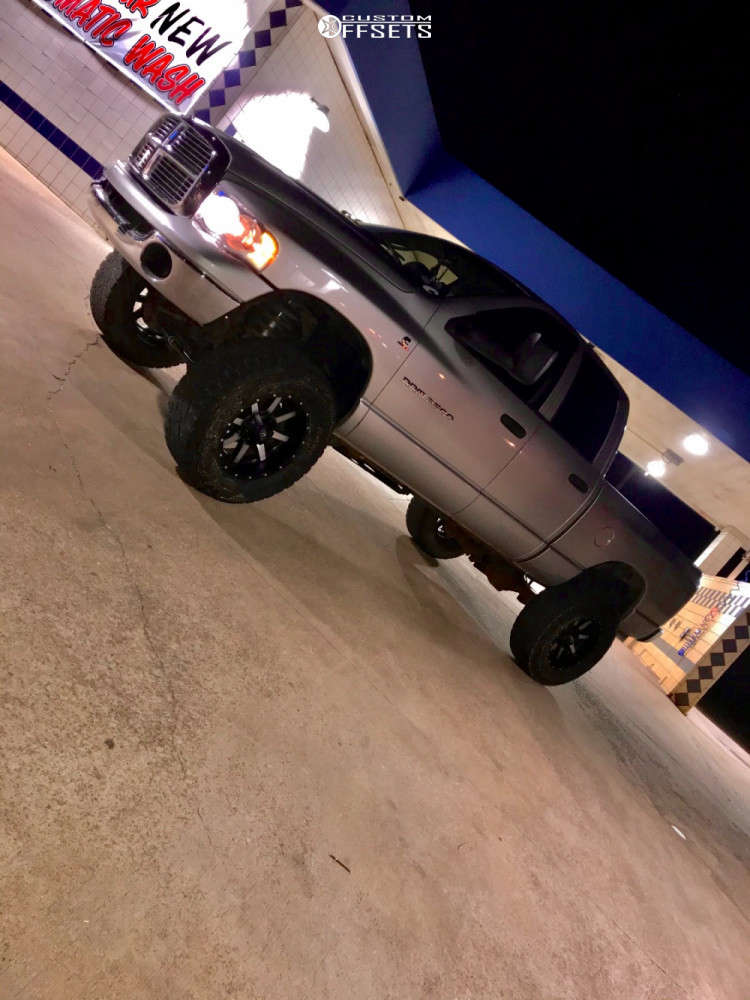 """2004 Dodge Ram 2500 Aggressive > 1"""" outside fender on 20x12 -44 offset Fuel Hostage & 37""""x13.5"""" Nitto Open Country A/t Iii on Suspension Lift 6"""" - Custom Offsets Gallery"""