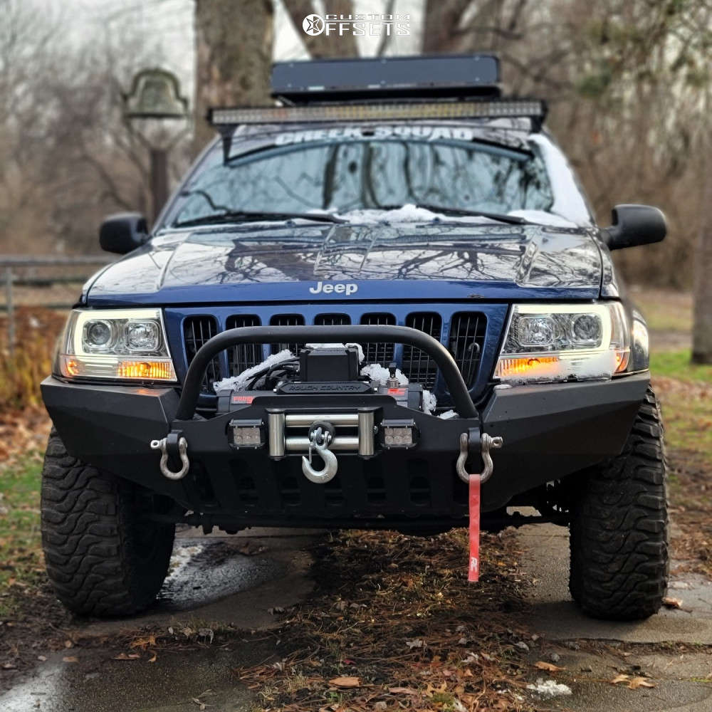 """1999 Jeep Grand Cherokee Aggressive > 1"""" outside fender on 16x8 0 offset Pro Comp 31 & 31""""x8.5"""" Federal Xplora Mt on Suspension Lift 3"""" - Custom Offsets Gallery"""