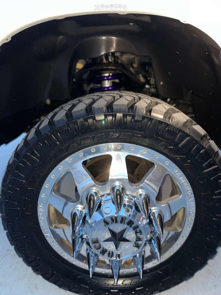 """2009 Dodge Ram 3500 Aggressive > 1"""" outside fender on 22x8.5 0 offset American Force Independence & 35""""x12.5"""" Nitto Trail Grappler on Suspension Lift 3"""" - Custom Offsets Gallery"""