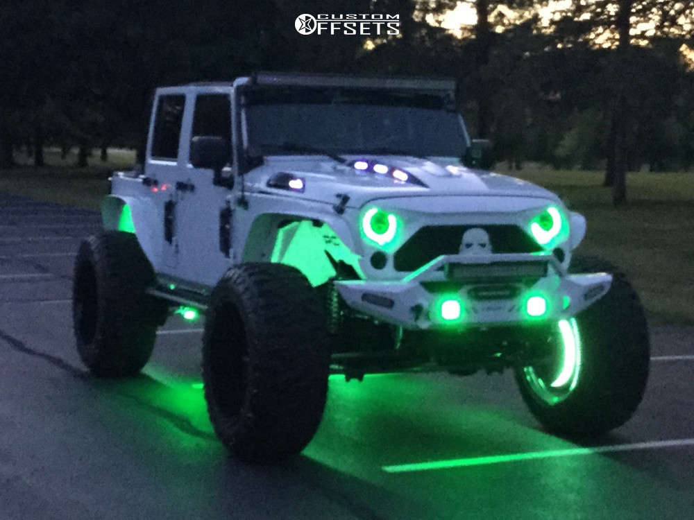"""2013 Jeep Wrangler JK Super Aggressive 3""""-5"""" on 24x14 -71 offset XF Offroad Xf-222 & 40""""x14.5"""" Atturo Trail Blade Boss on Suspension Lift 6"""" - Custom Offsets Gallery"""