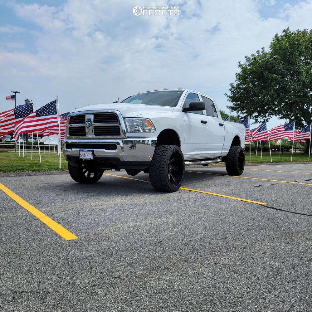 "2012 Ram 2500 Super Aggressive 3""-5"" on 24x12 -51 offset ARKON OFF-ROAD Lincoln & 33""x12.5"" Venom Power Terra Hunter R/t Plus on Suspension Lift 3"" - Custom Offsets Gallery"
