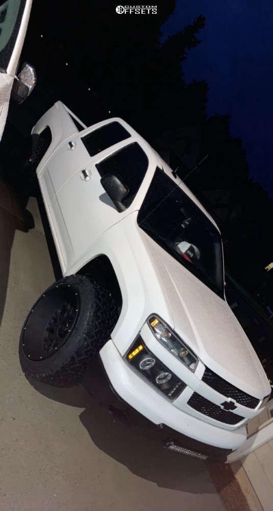 "2012 Chevrolet Colorado Super Aggressive 3""-5"" on 20x12 -51 offset Vision Rocker & 26""x50"" Venom Power Terra Hunter X/t on Suspension Lift 3"" - Custom Offsets Gallery"