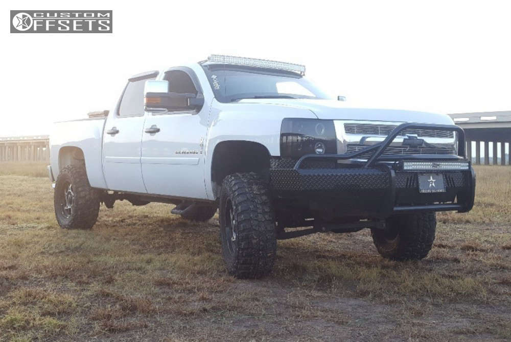 """2009 Chevrolet Silverado 1500 Nearly Flush on 18x9 10 offset Ultra Colossus & 35""""x12.5"""" Federal Couragia Mt on Suspension Lift 6.5"""" - Custom Offsets Gallery"""
