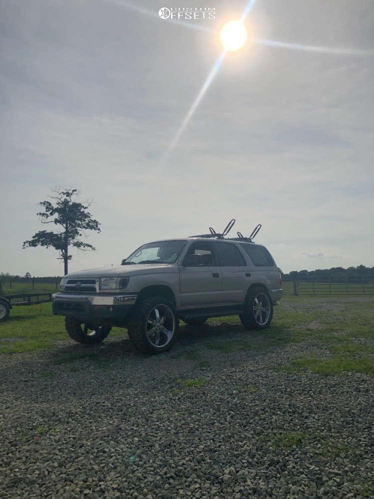 "2000 Toyota 4Runner Aggressive > 1"" outside fender on 22x10 -24 offset U2 U2-55sb & 33""x12.5"" Gladiator Xcomp Mt on Suspension Lift 5"" - Custom Offsets Gallery"