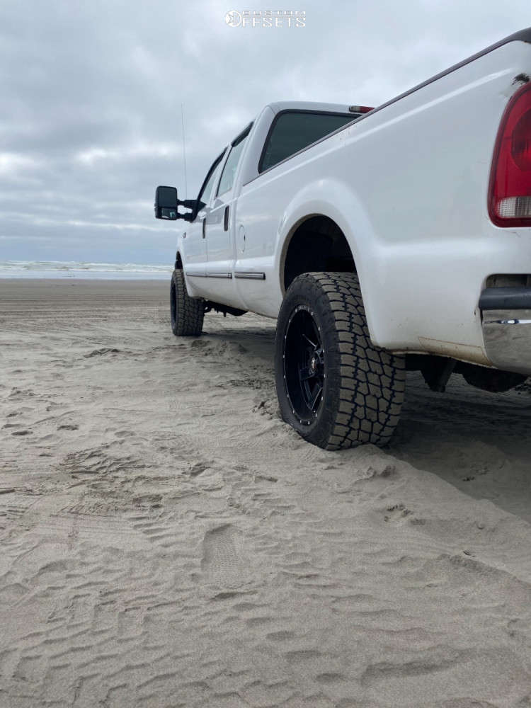 """1999 Ford F-350 Super Duty Slightly Aggressive on 20x10 -19 offset Ballistic Rage & 33""""x12.5"""" Nitto Terra Grappler on Stock - Custom Offsets Gallery"""
