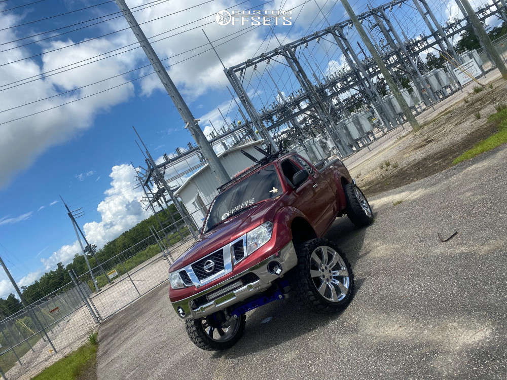 """2017 Nissan Frontier Super Aggressive 3""""-5"""" on 24x10 30 offset OE Replicas Denali & 35""""x12.5"""" Gladiator Xcomp Mt on Suspension Lift 9"""" - Custom Offsets Gallery"""