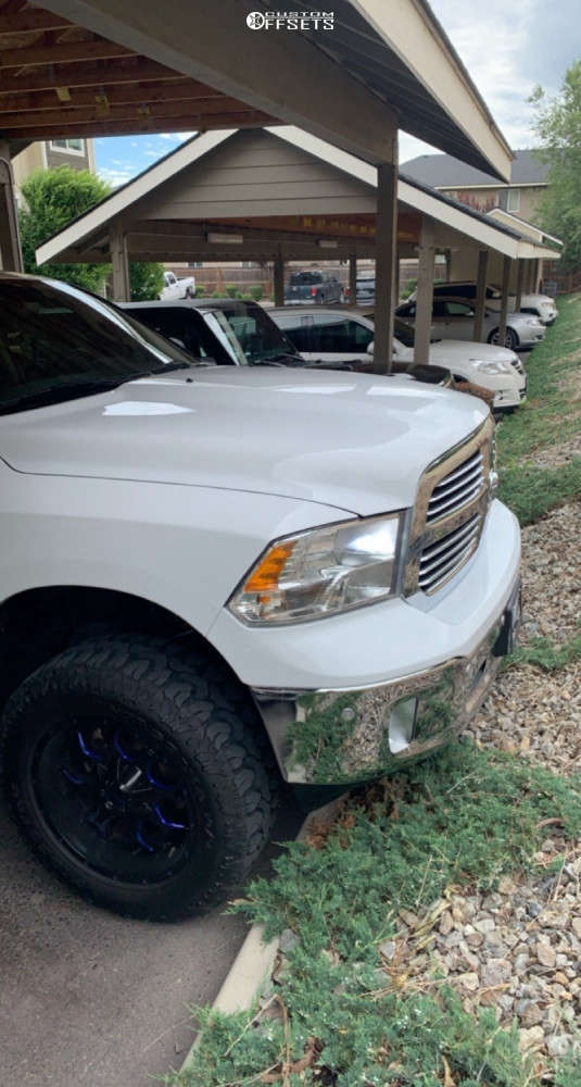 """2019 Ram 1500 Classic Aggressive > 1"""" outside fender on 20x9 0 offset Mayhem Havoc and 33""""x11.5"""" Patagonia Milestar on Suspension Lift 4"""" - Custom Offsets Gallery"""