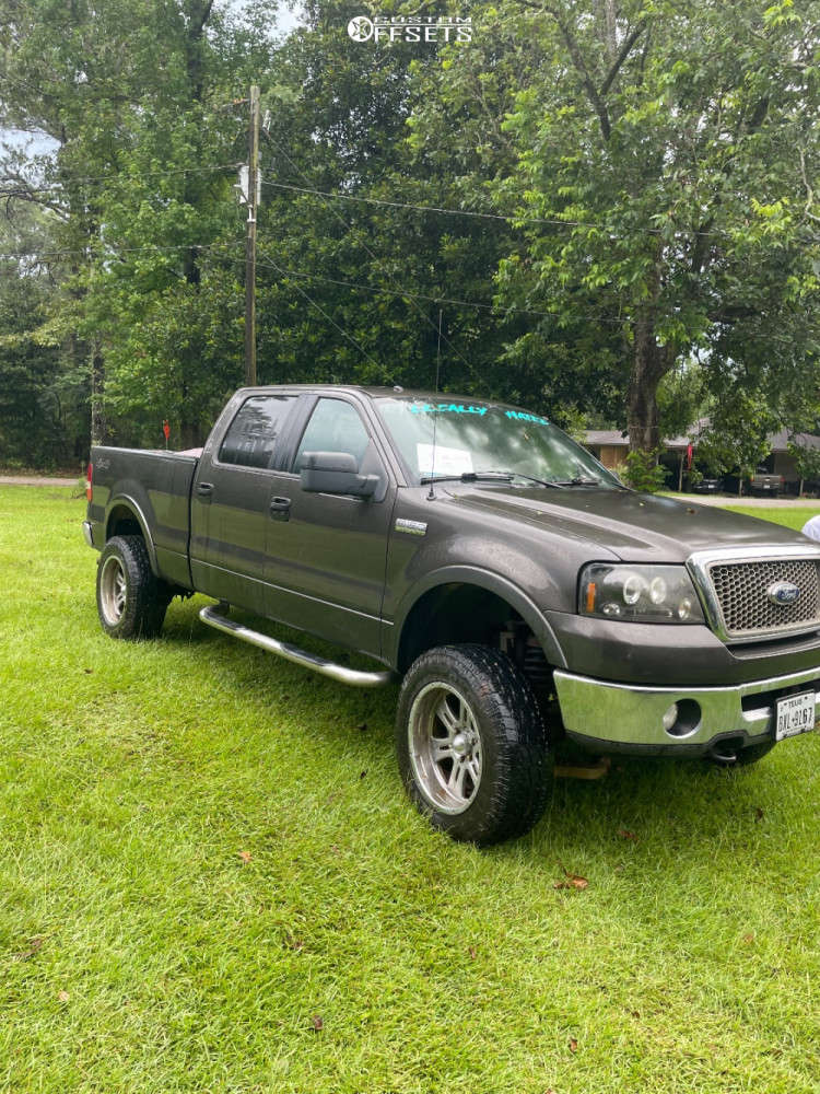 """2006 Ford F-150 Aggressive > 1"""" outside fender on 20x12 -44 offset ARE 398 & 33""""x12.5"""" Mickey Thompson A/T on Suspension Lift 3"""" - Custom Offsets Gallery"""