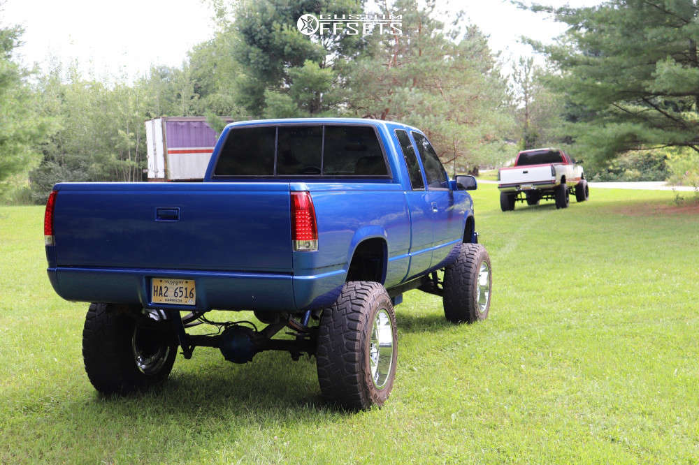 """1996 Chevrolet K1500 Aggressive > 1"""" outside fender on 20x12 -44 offset Hostile Vulcan & 37""""x12.5"""" Toyo Open Country R/t on Suspension Lift 6"""" & Body 3"""" - Custom Offsets Gallery"""