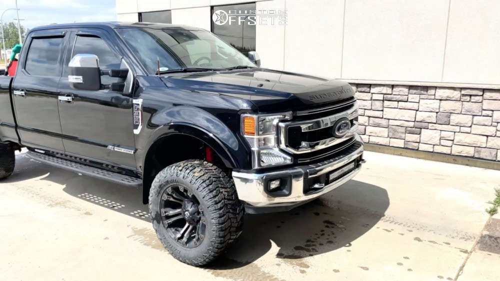 """2021 Ford F-350 Super Duty Super Aggressive 3""""-5"""" on 20x10 -18 offset Fuel Vapor & 35""""x13.5"""" Renegade Renegade R/t on Suspension Lift 2.5"""" - Custom Offsets Gallery"""