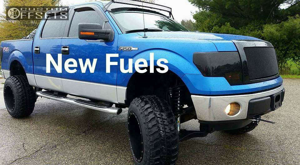 """2012 Ford F-150 Hella Stance >5"""" on 20x14 -76 offset Fuel Hostage and 35""""x12.5"""" Federal Couragia Mt on Suspension Lift 6"""" - Custom Offsets Gallery"""