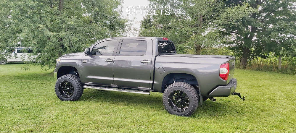 """2019 Toyota Tundra Super Aggressive 3""""-5"""" on 20x12 -44 offset Moto Metal Mo962 & 35""""x12.5"""" Toyo Open Country Mt on Suspension Lift 6"""" - Custom Offsets Gallery"""