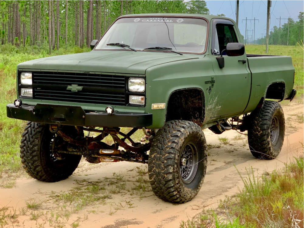 """1984 Chevrolet K10 Pickup Super Aggressive 3""""-5"""" on 17x9 -12 offset Fuel Nitro & 37""""x13.5"""" Toyo Open Country Mt on Suspension Lift 10"""" - Custom Offsets Gallery"""