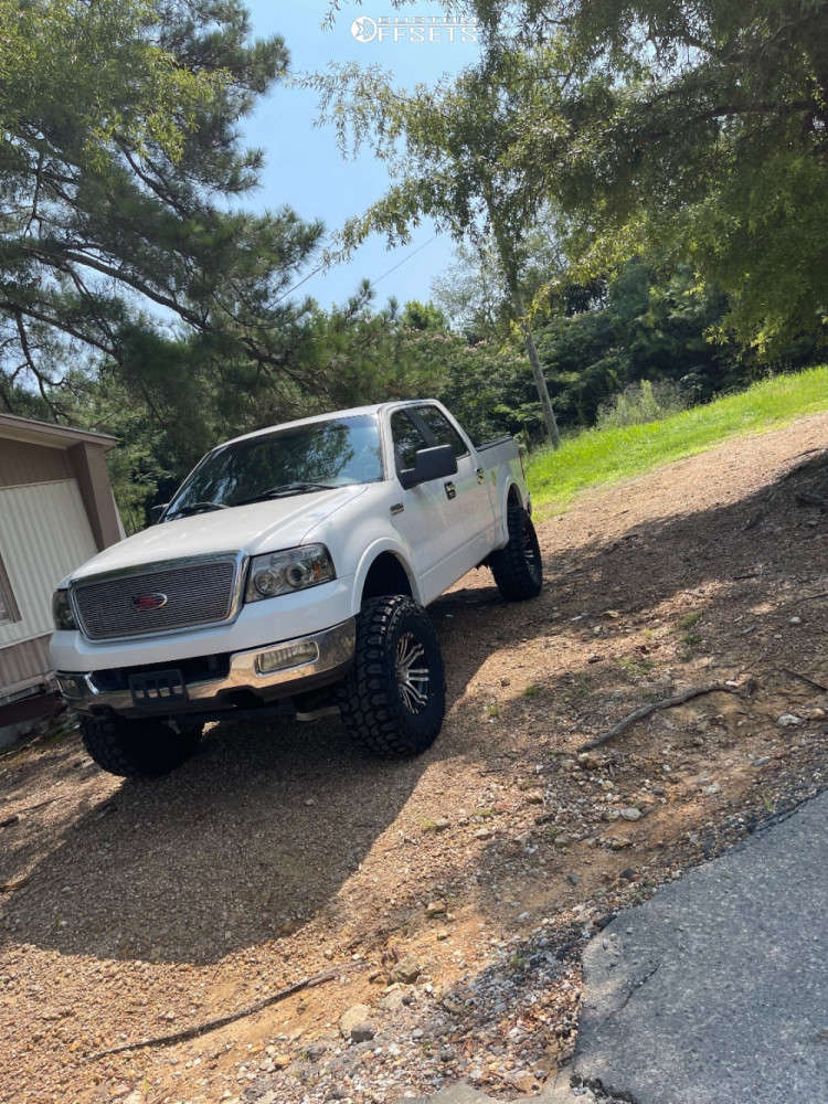 """2005 Ford F-150 Super Aggressive 3""""-5"""" on 17x13 0 offset American Eagle 18 & 37""""x13.5"""" Gladiator Xcomp Mt on Suspension Lift 6"""" - Custom Offsets Gallery"""