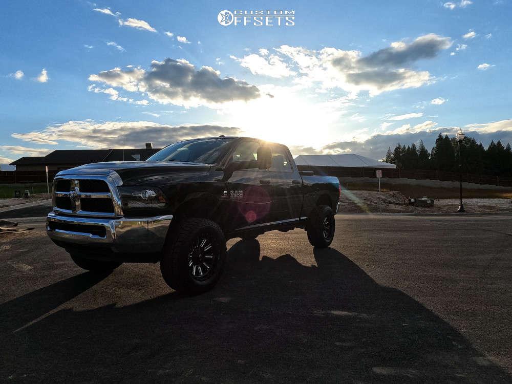 "2017 Ram 2500 Aggressive > 1"" outside fender on 20x9 -18 offset Fuel Hardline & 35""x12.5"" Open Range A/t on Stock - Custom Offsets Gallery"