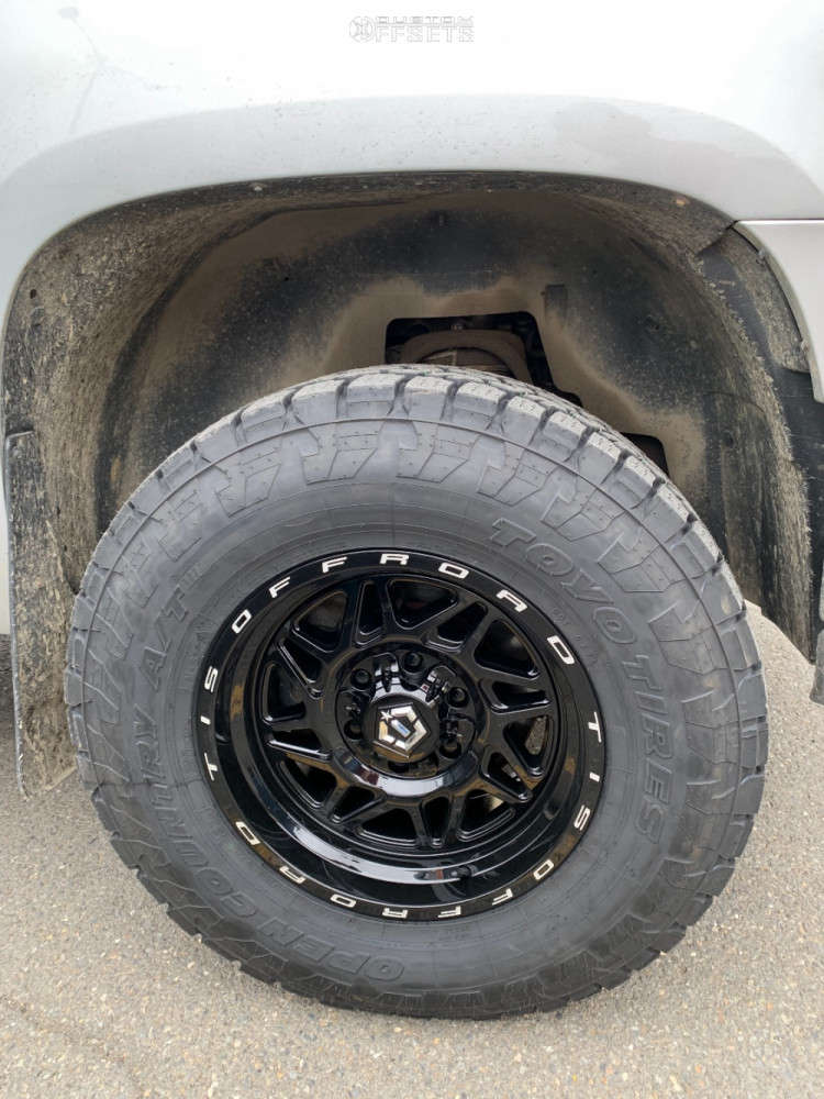 """2011 GMC Sierra 1500 Aggressive > 1"""" outside fender on 17x9 -12 offset TIS 552b & 285/70 Toyo Open Country A/t Iii on Suspension Lift 2.5"""" - Custom Offsets Gallery"""