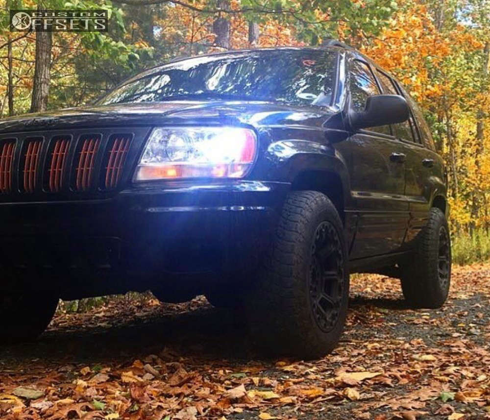 2002 Jeep Grand Cherokee Slightly Aggressive on 17x9 18 offset Gear Off-Road Black Jack & 265/70 Nitto Terra Grappler G2 on Leveling Kit - Custom Offsets Gallery