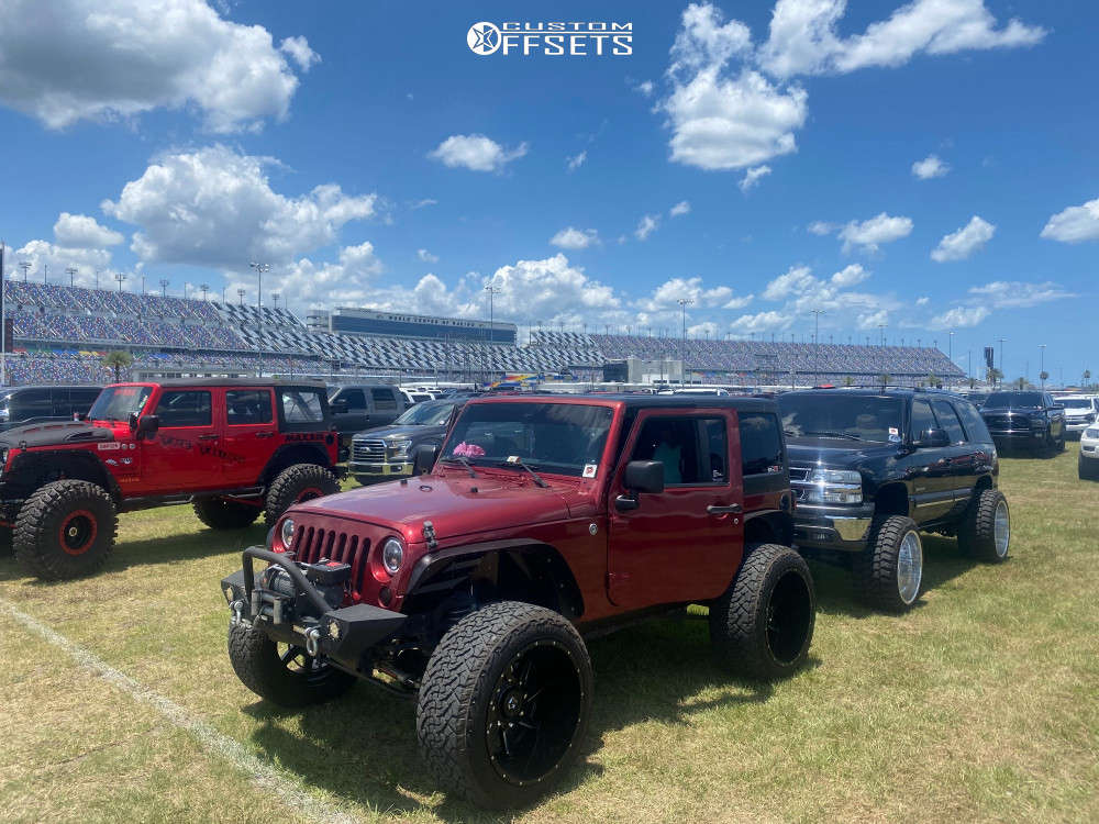 "2011 Jeep Wrangler Super Aggressive 3""-5"" on 24x14 -76 offset Gear Off-Road Wrath 751bm & 37""x13.5"" Venom Power Terra Hunter R/t on Lifted - Custom Offsets Gallery"