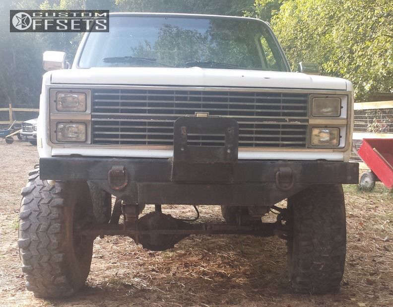 """1981 Chevrolet K10 Aggressive > 1"""" outside fender on 15x10 -38 offset Spaced Out Stockers Spaced Out Stockers & 38""""x12.5"""" Super Swamper TSL Radial on Suspension Lift 6"""" - Custom Offsets Gallery"""