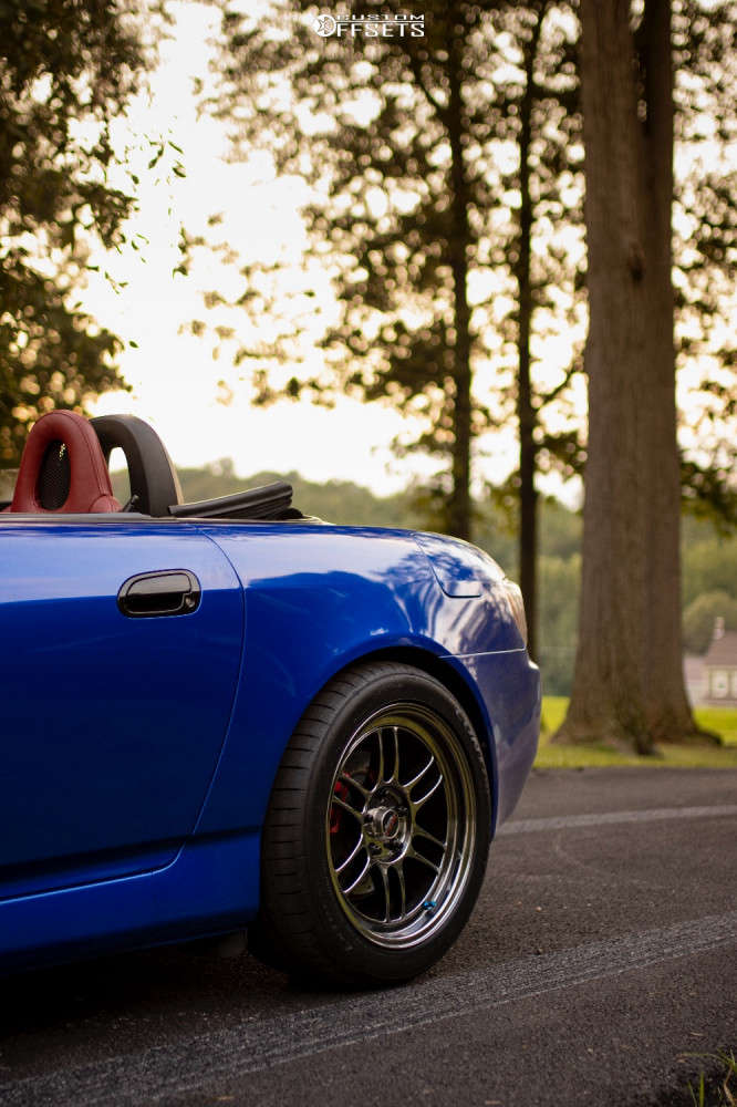 2001 Honda S2000 Poke on 17x9 45 offset Enkei Rpf1 & 255/40 Continental Contisportcontact 3 on Coilovers - Custom Offsets Gallery