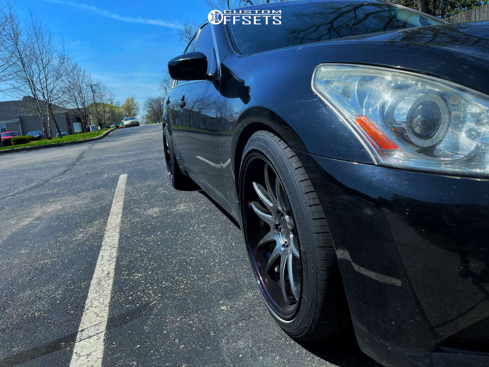 2012 Infiniti G37 Nearly Flush on 19x9.5 22 offset Aodhan Ds02 & 245/40 Toyo Extensa Hp Ii on Lowering Springs - Custom Offsets Gallery