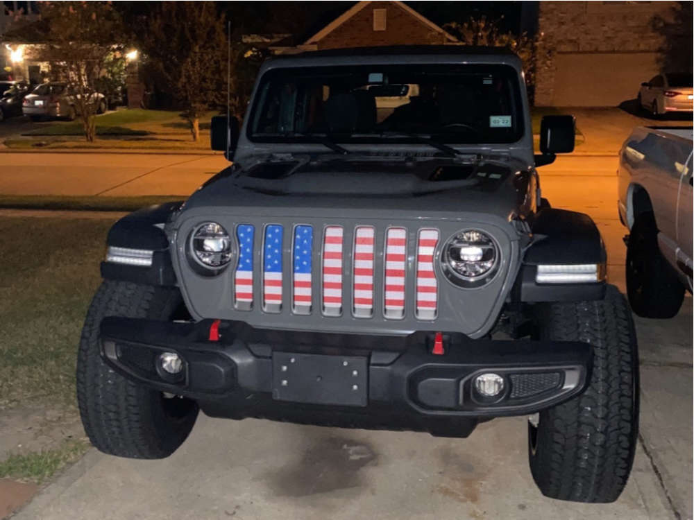 """2019 Jeep Wrangler Super Aggressive 3""""-5"""" on 20x12 -51 offset Vision Razor & 35""""x12.5"""" Kumho Road Venture At51 on Suspension Lift 2.5"""" - Custom Offsets Gallery"""