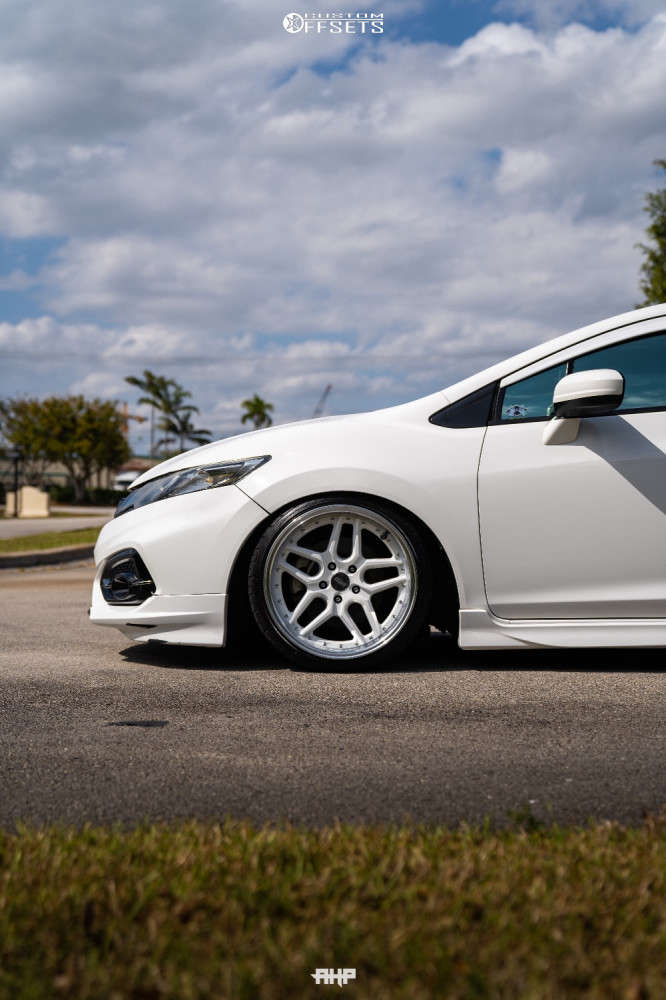 2015 Honda Civic Tucked on 18x9.5 22 offset ESR CS-15 & 215/35 Federal 595 on Coilovers - Custom Offsets Gallery