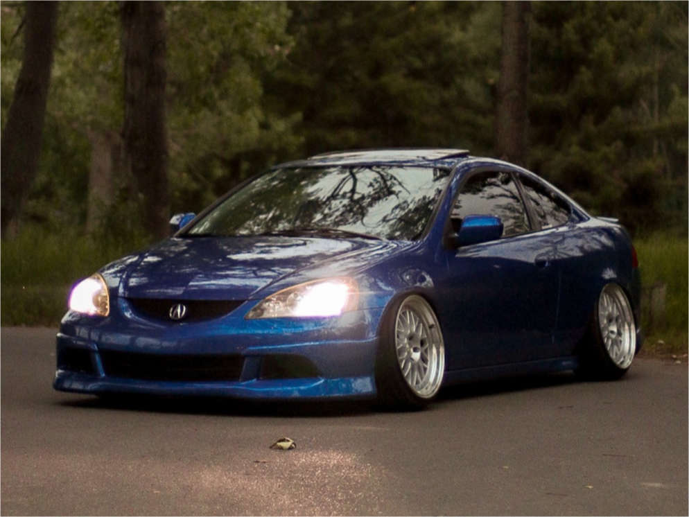 2006 Acura RSX Nearly Flush on 18x9.5 30 offset Aodhan Ah02 & 215/35 Bridgestone Potenza on Coilovers - Custom Offsets Gallery