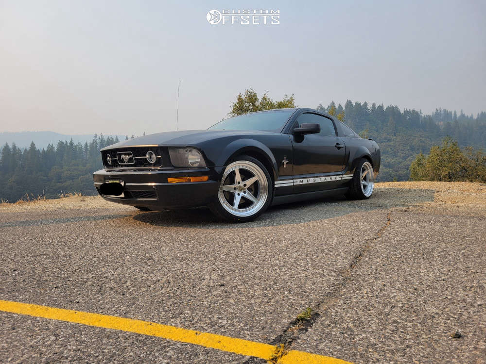 2008 Ford Mustang Flush on 19x9.5 35 offset Aodhan Ds05 & 275/30 Vercelli Strada Ii on Coilovers - Custom Offsets Gallery