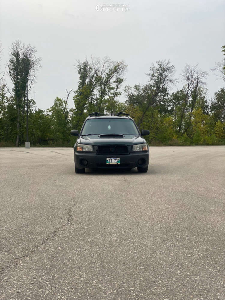 2003 Subaru Forester Nearly Flush on 17x7 45 offset Enkei Ekm3 & 205/50 Cooper Zeon Rs3-a on Coilovers - Custom Offsets Gallery