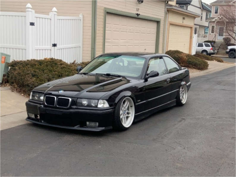 1999 BMW 328is Tucked on 18x9.5 45 offset BBS Style 37 & 215/35 Federal 595 Rs-rr on Coilovers - Custom Offsets Gallery