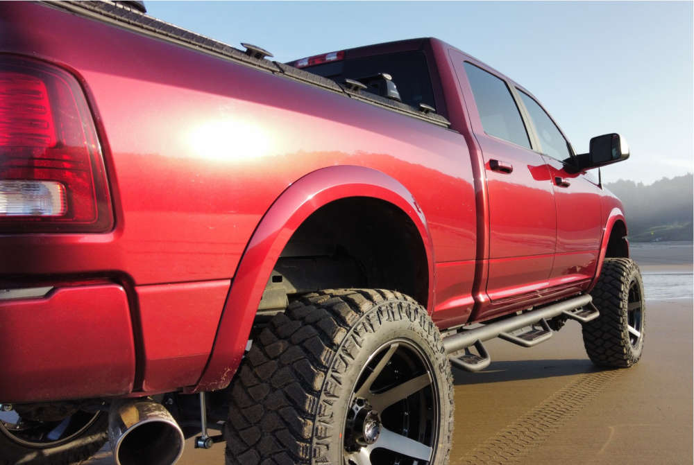 """2017 Ram 2500 Super Aggressive 3""""-5"""" on 22x12 -44 offset 4Play 4p60 & 37""""x13.5"""" Maxxis Razr Mt on Suspension Lift 6"""" - Custom Offsets Gallery"""