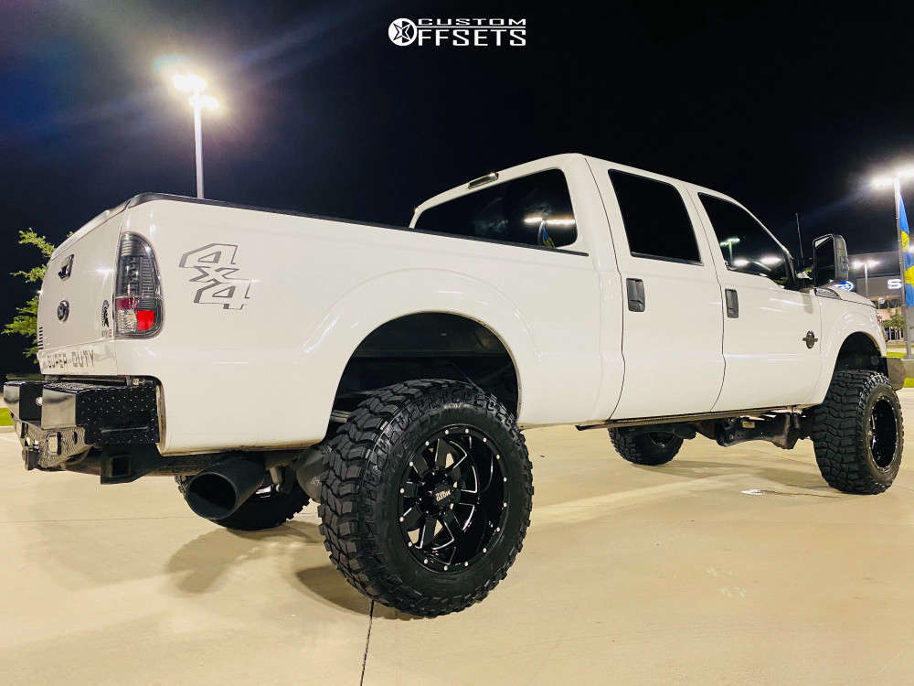 """2012 Ford F-250 Super Duty Super Aggressive 3""""-5"""" on 20x12 44 offset Moto Metal Mo962 & 37""""x12.5"""" Cooper Discoverer Stt Pro on Suspension Lift 4.5"""" - Custom Offsets Gallery"""