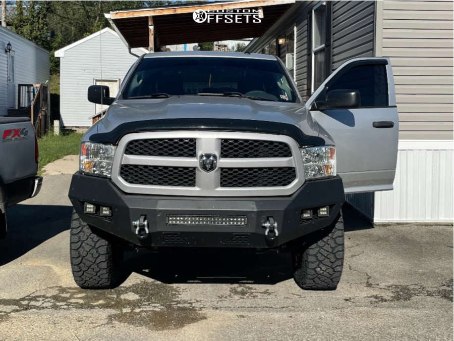 """2016 Ram 1500 Aggressive > 1"""" outside fender on 20x10 -25 offset Extreme Force Xf10 & 35""""x12.5"""" Kenda Klever R/t on Suspension Lift 6"""" - Custom Offsets Gallery"""