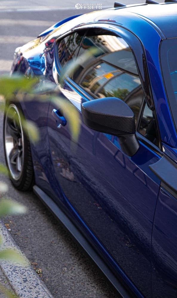 2015 Subaru BRZ Poke on 18x8.5 25 offset XXR 555 & 245/40 Yokohama Avid Envigor on Coilovers - Custom Offsets Gallery