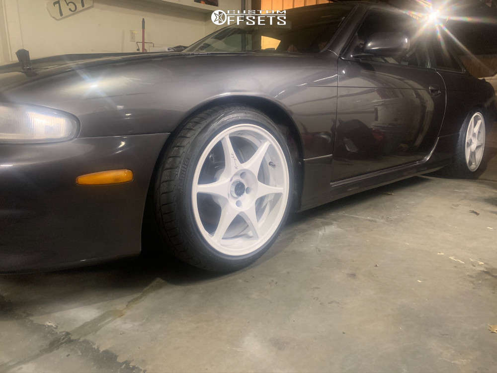 1994 Nissan 240SX Tucked on 17x9.5 10 offset Stage Wheels Knight & 215/45 Accelera Alpha on Coilovers - Custom Offsets Gallery