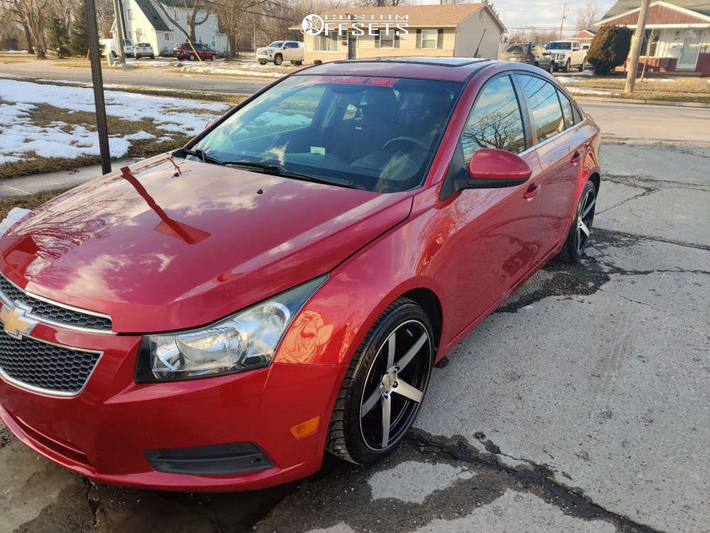 2012 Chevrolet Cruze Nearly Flush on 18x8.5 40 offset Versus Racing Vs541 & 225/40 Federal 595 Ss on Stock Suspension - Custom Offsets Gallery