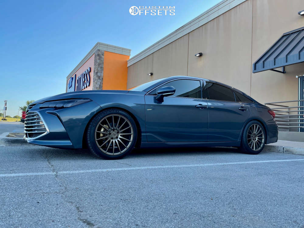 2021 Toyota Avalon Flush on 19x8.5 35 offset Niche Form & 245/40 Continental Extremecontact Dws06 on Coilovers - Custom Offsets Gallery
